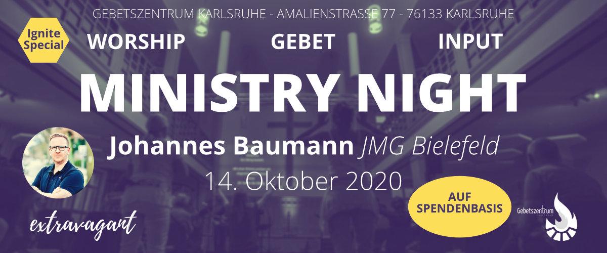 Ministry Night mit Johannes Baumann