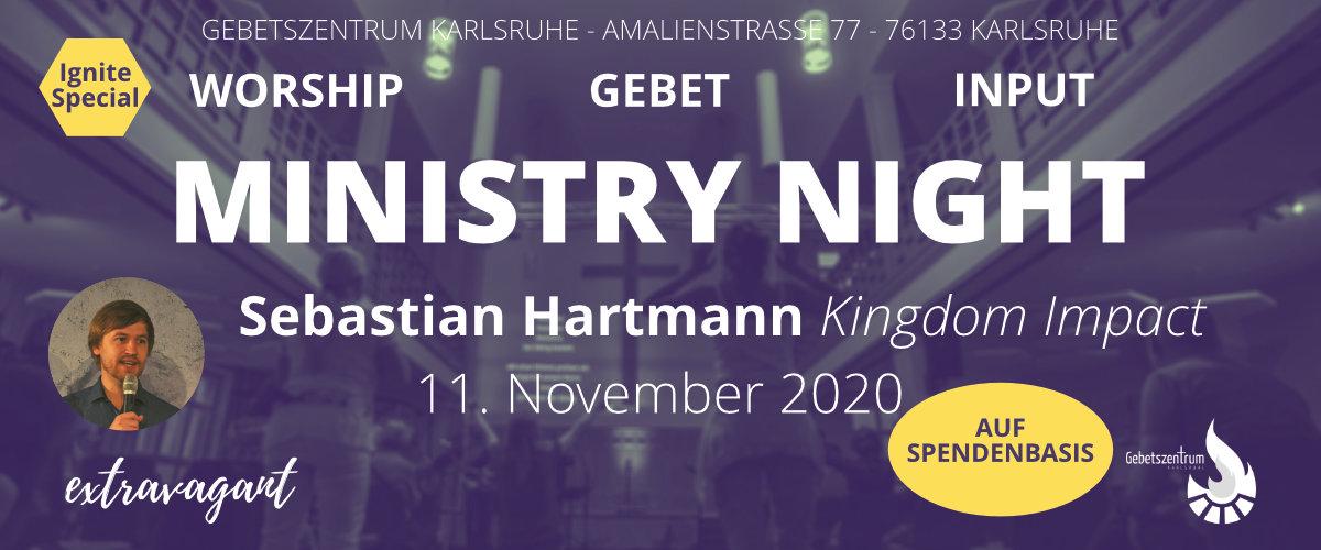 Ministry Night mit Sebastian Hartmann